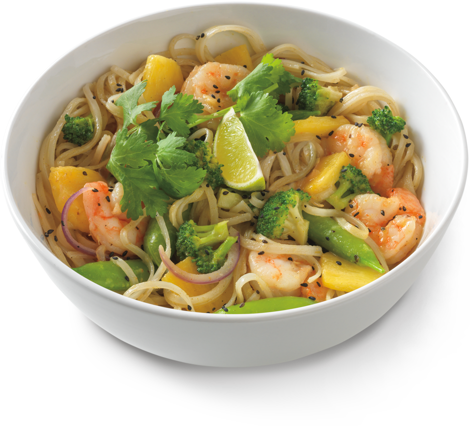 thai green curry with shrimp ~ noodles world kitchen