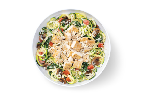 Zucchini Alfredo MontAmoré® with Grilled Chicken